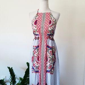 LeShop Patterned Summer Halter Maxi Dress S/P